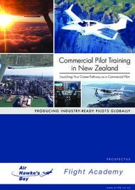 Commercial Pilot Training in New Zealand - Flight Academy - PRODUCING ...