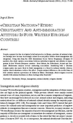 """CHRISTIAN NATIONS""? ETHNIC CHRISTIANITY AND ANTI-IMMIGRATION ATTITUDES IN FOUR WESTERN EUROPEAN COUNTRIES"