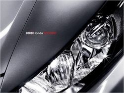 Honda Accord 2008. Brochure.