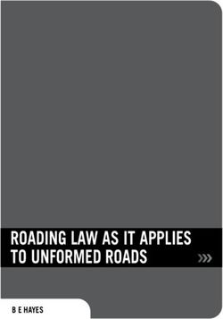 ROADING LAW AS IT APPLIES TO UNFORMED ROADS