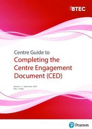 Completing the Centre Engagement Document (CED)