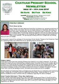 Chatham Primary School Newsletter PRINCIPAL'S MESSAGE