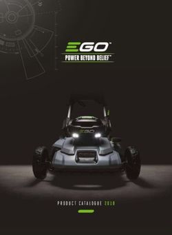 EGO PRODUCT CATALOGUE 2018