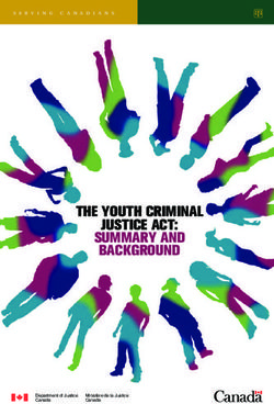 THE YOUTH CRIMINAL JUSTICE ACT: SUMMARY AND BACKGROUND