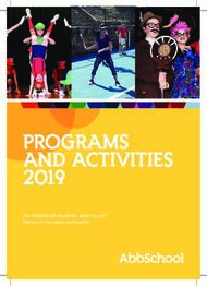 PROGRAMS AND ACTIVITIES 2019