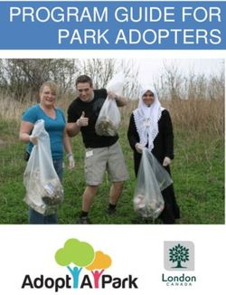 PROGRAM GUIDE FOR PARK ADOPTERS