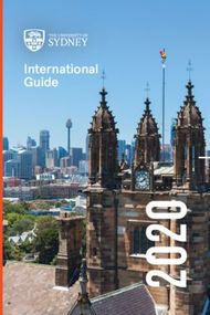 The University of Sydney - International Guide 2020