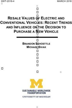 RESALE VALUES OF ELECTRIC AND CONVENTIONAL VEHICLES: RECENT TRENDS AND INFLUENCE ON THE DECISION TO PURCHASE A NEW VEHICLE