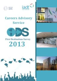 2013 Careers Advisory Service First Destinations Survey - IADT