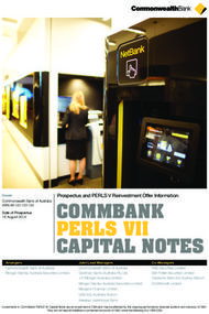 COMMBANK PERLS VII CAPITAL NOTES