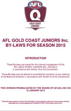 BY-LAWS FOR SEASON 2015 - AFL GOLD COAST JUNIORS Inc.