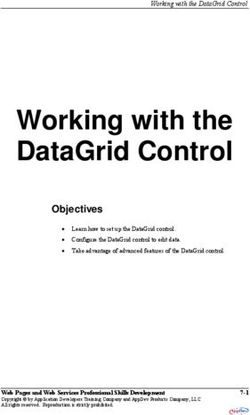 Working with the DataGrid Control - Objectives