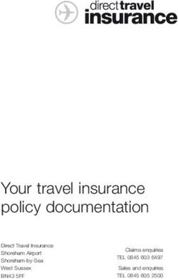 Your travel insurance policy documentation