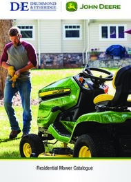 Residential Mower Catalogue - Drummond & Etheridge