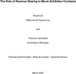 The Role of Revenue Sharing in Movie Exhibition Contracts