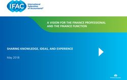 A VISION FOR THE FINANCE PROFESSIONAL AND THE FINANCE FUNCTION