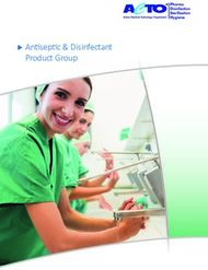 Antiseptic & Disinfectant Product Group - ACTO GmbH