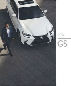 Lexus GS and Lexus GS Hybrid Brochure 2016