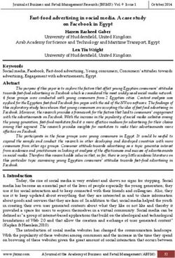 Fast-food advertising in social media. A case study on Facebook in Egypt