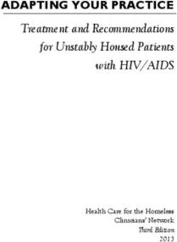 Treatment and Recommendations for Unstably Housed Patients with HIV/AIDS
