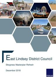 East Lindsey District Council - Skegness Masterplan Refresh