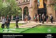 Student Guide 2020/2021 - International Programmes www.uab.cat/study-abroad ...