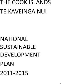 The cook islands te kaveinga nui national sustainable development plan 2011-2015