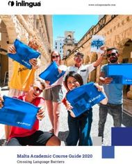 Malta Academic Course Guide 2020 - Crossing Language Barriers - ...