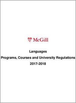 LANGUAGES PROGRAMS, COURSES AND UNIVERSITY - MCGILL UNIVERSITY