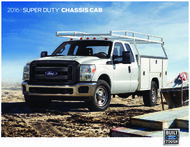 Ford Chassis Cab Super Duty 2016. Brochure.