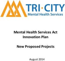 Mental Health Services Act Innovation Plan New Proposed Projects