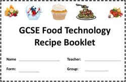GCSE Food Technology Recipe Booklet