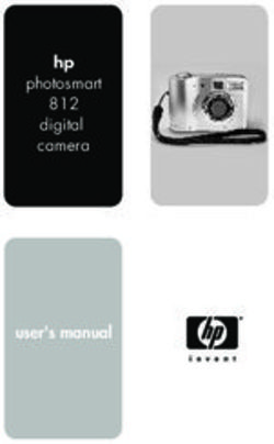 Hp photosmart 812 digital camera user's manual