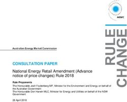 CONSULTATION PAPER - National Energy Retail Amendment (Advance notice of price changes) Rule 2018