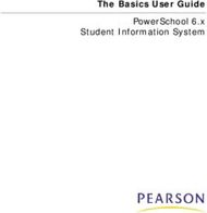 The Basics User Guide PowerSchool 6.x Student Information System