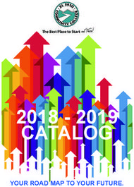 EL PASO COMMUNITY COLLEGE - 2018-2019 CATALOG - YOUR ROAD MAP TO YOUR FUTURE.