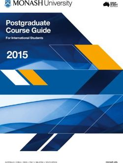 Postgraduate Course Guide - Monash University