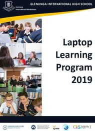 Laptop Learning Program 2019