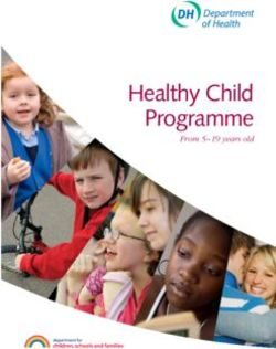 Healthy Child Programme - From 5-19 years old