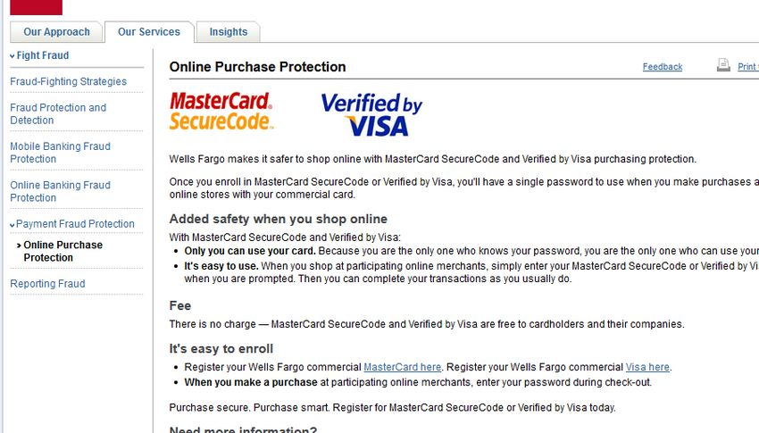 Wells Fargo Bank WellsOne Commercial Card Program - Policy and