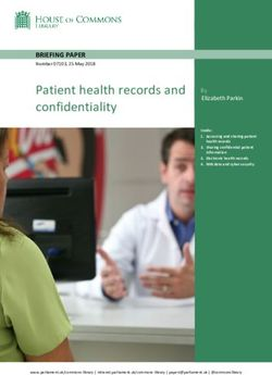 Patient health records and confidentiality - Parliament.uk