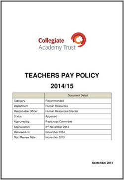 TEACHERS PAY POLICY 2014/15 September 2014