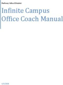 Infinite Campus Office Coach Manual