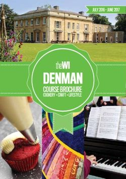 The WI Denman Course Brochure - June 2017