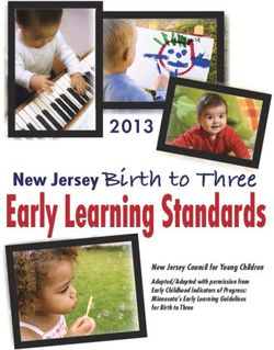 Early Learning Standards New Jersey Birth to Three