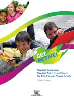 Physical Education, Physical Activity and Sport for Children and Young People
