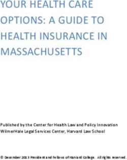 YOUR HEALTH CARE OPTIONS: A GUIDE TO HEALTH INSURANCE IN MASSACHUSETTS