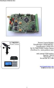REMOTE CONTROL MODULE BIENEREMOTE128GM-METEO BIENEREMOTE128GM-WS FOR ULTIMETER WEATHER STATION PEET BROS CO., WWW.PEETBROS.COM
