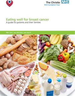 Eating well for breast cancer - A guide for patients and their families