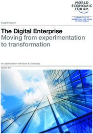 The Digital Enterprise Moving from experimentation to transformation